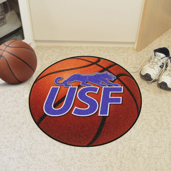 """27"""" University of Sioux Falls Basketball Style Round Mat"""