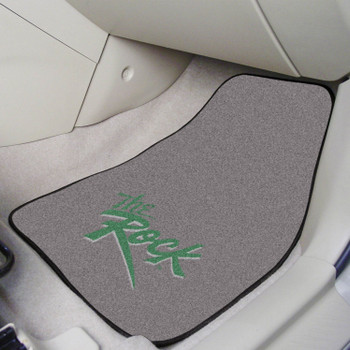 Slippery Rock University Green Carpet Car Mat, Set of 2