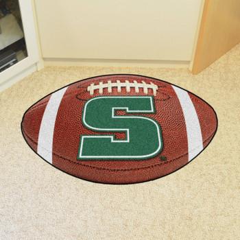 "20.5"" x 32.5"" Slippery Rock University Football Shape Mat"