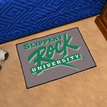 "19"" x 30"" Slippery Rock University Green Rectangle Starter Mat"