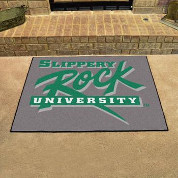 "33.75"" x 42.5"" Slippery Rock University All Star Green Rectangle Mat"