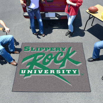 "59.5"" x 71"" Slippery Rock University Green Tailgater Mat"