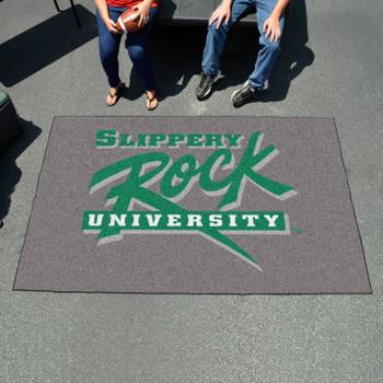 "59.5"" x 94.5"" Slippery Rock University Green Rectangle Ulti Mat"