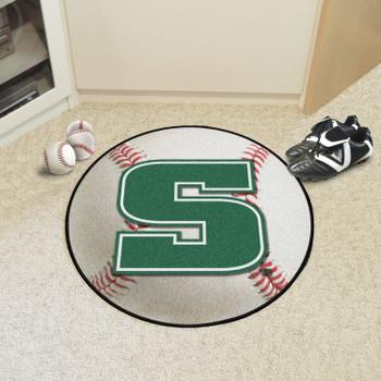 """27"""" Slippery Rock University Baseball Style Round Mat"""