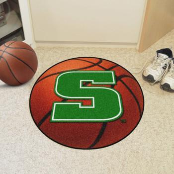 """27"""" Slippery Rock University Basketball Style Round Mat"""