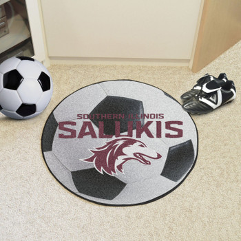 """27"""" Southern Illinois University Soccer Ball Round Mat"""