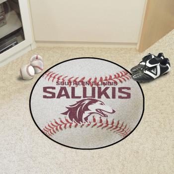 """27"""" Southern Illinois University Baseball Style Round Mat"""