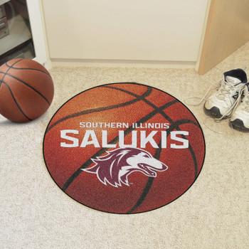 """27"""" Southern Illinois University Basketball Style Round Mat"""