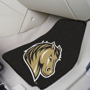 Southwest Minnesota State University Black Carpet Car Mat, Set of 2
