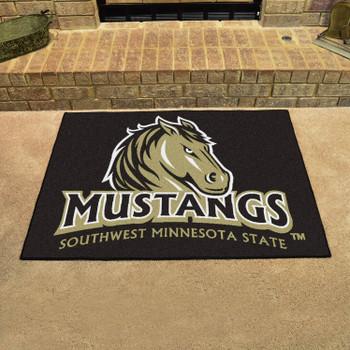 "33.75"" x 42.5"" Southwest Minnesota State University All Star Black Rectangle Mat"