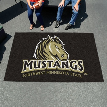 "59.5"" x 94.5"" Southwest Minnesota State University Black Rectangle Ulti Mat"