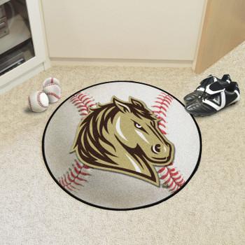"""27"""" Southwest Minnesota State University Baseball Style Round Mat"""