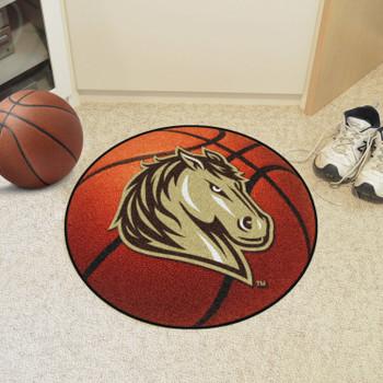 """27"""" Southwest Minnesota State University Basketball Style Round Mat"""