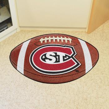 "20.5"" x 32.5"" St. Cloud State University Football Shape Mat"