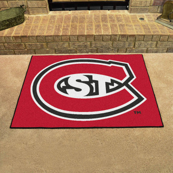 """33.75"""" x 42.5"""" St. Cloud State University All Star Red Rectangle Mat"""