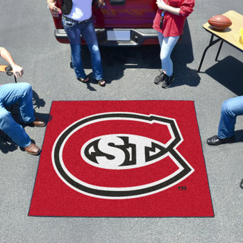 """59.5"""" x 71"""" St. Cloud State University Red Tailgater Mat"""