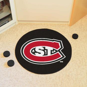 "27"" St. Cloud State University Puck Round Mat - ""St. C"" Logo"