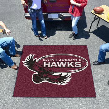 "59.5"" x 71"" St. Joseph's University Maroon Tailgater Mat"