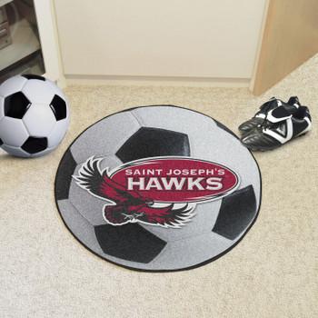 "27"" St. Joseph's University Soccer Ball Round Mat"