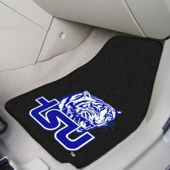 Tennessee State University Black Carpet Car Mat, Set of 2