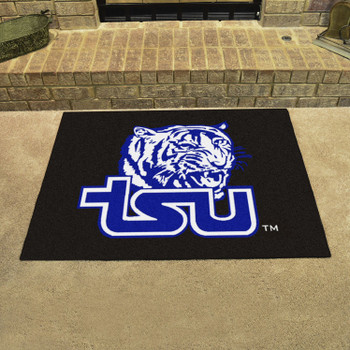 """33.75"""" x 42.5"""" Tennessee State University All Star Black Rectangle Mat"""