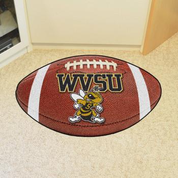 "20.5"" x 32.5"" West Virginia State University Football Shape Mat"