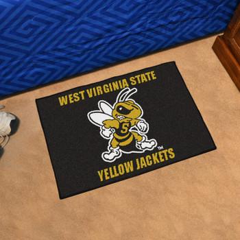 "19"" x 30"" West Virginia State University Yellow Jackets Black Rectangle Starter Mat"