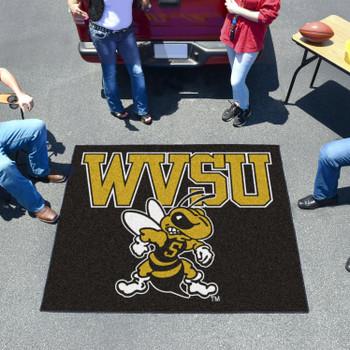 "59.5"" x 71"" West Virginia State University Black Tailgater Mat"