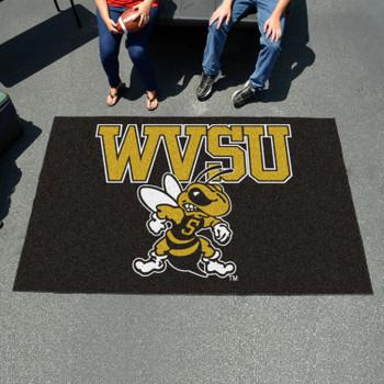 "59.5"" x 94.5"" West Virginia State University Black Rectangle Ulti Mat"
