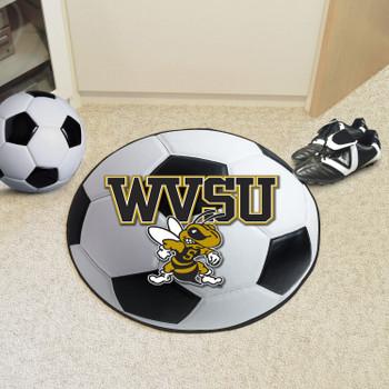"27"" West Virginia State University Soccer Ball Round Mat"