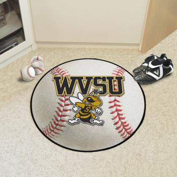 "27"" West Virginia State University Baseball Style Round Mat"