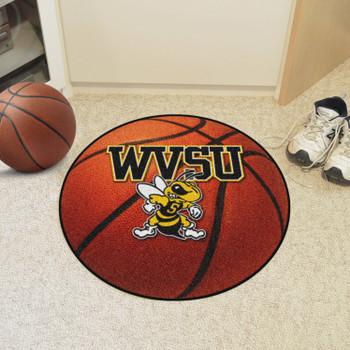 "27"" West Virginia State University Basketball Style Round Mat"