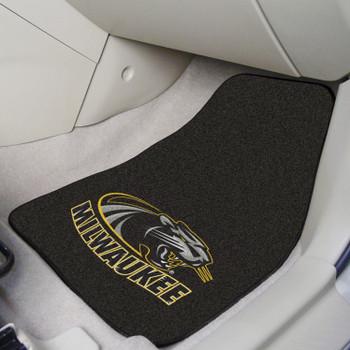 University of Wisconsin-Milwaukee Black Carpet Car Mat, Set of 2