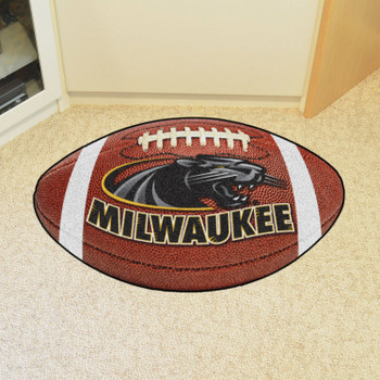 "20.5"" x 32.5"" University of Wisconsin-Milwaukee Football Shape Mat"