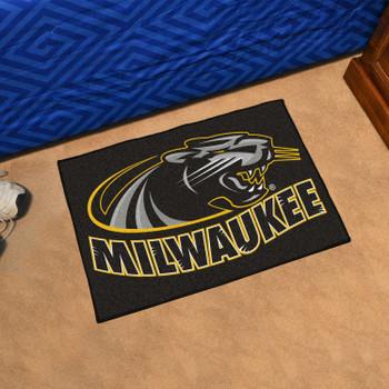 "19"" x 30"" University of Wisconsin-Milwaukee Black Rectangle Starter Mat"