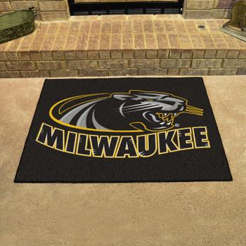 "33.75"" x 42.5"" University of Wisconsin-Milwaukee All Star Black Rectangle Mat"