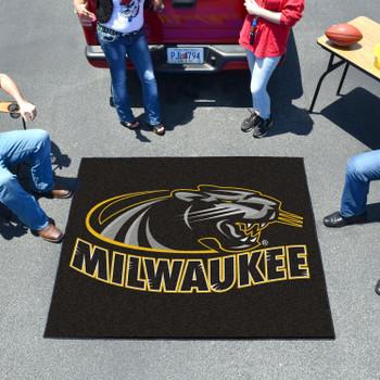 "59.5"" x 71"" University of Wisconsin-Milwaukee Black Tailgater Mat"