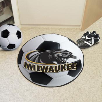 "27"" University of Wisconsin-Milwaukee Soccer Ball Round Mat"