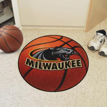 "27"" University of Wisconsin-Milwaukee Basketball Style Round Mat"
