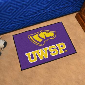 "19"" x 30"" University of Wisconsin-Stevens Point Purple Rectangle Starter Mat"