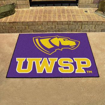"33.75"" x 42.5"" University of Wisconsin-Stevens Point All Star Purple Rectangle Mat"