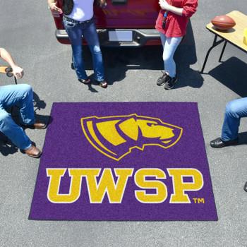 "59.5"" x 71"" University of Wisconsin-Stevens Point Purple Tailgater Mat"