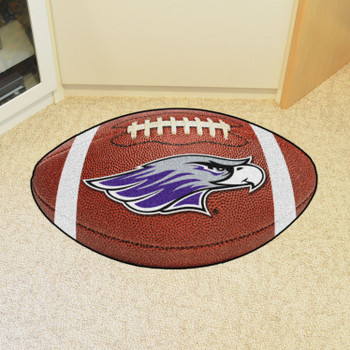 "20.5"" x 32.5"" University of Wisconsin-Whitewater Football Shape Mat"