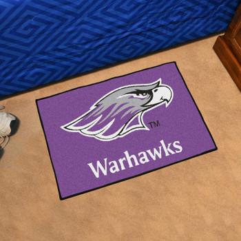 "19"" x 30"" University of Wisconsin-Whitewater Purple Rectangle Starter Mat"