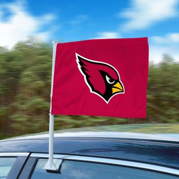 """11"""" x 14"""" Arizona Cardinals Red Car Flag"""