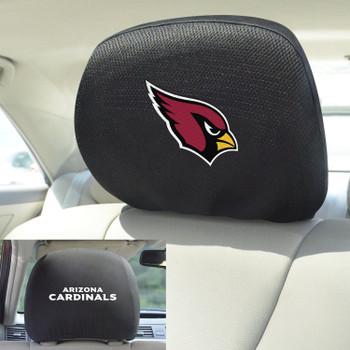 Arizona Cardinals Car Headrest Cover, Set of 2