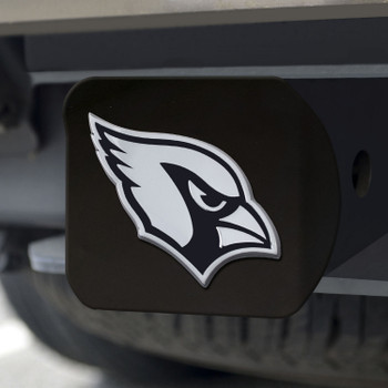 Arizona Cardinals Hitch Cover - Chrome on Black
