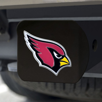 Arizona Cardinals Hitch Cover - Red on Black