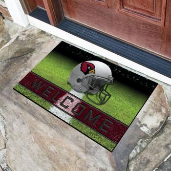 "18"" x 30"" Arizona Cardinals Red Crumb Rubber Door Mat"