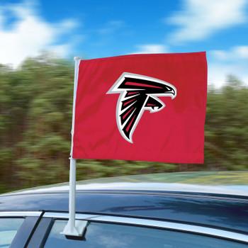 "11"" x 14"" Atlanta Falcons Red Car Flag"
